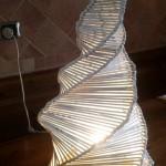 """Lampada  bianca a  """"spirale """""""