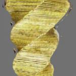 """Lampada da terra intrecciata a """" spirale rovesciata """""""