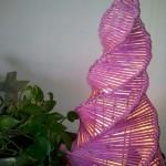 "Lampada a "" spirale "" acquerellata"