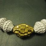 perle di carta riciclata  : Bianco e oro