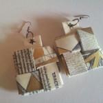 Orecchini ecologici con carta di riciclo