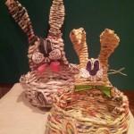 Cestini a forma di coniglietto