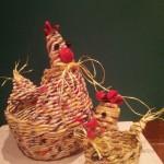 Cestini gallinella e pulcino