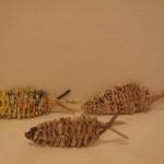pesciolini di carta riciclata
