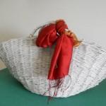 cesto da mare realizzato con carta riciclata