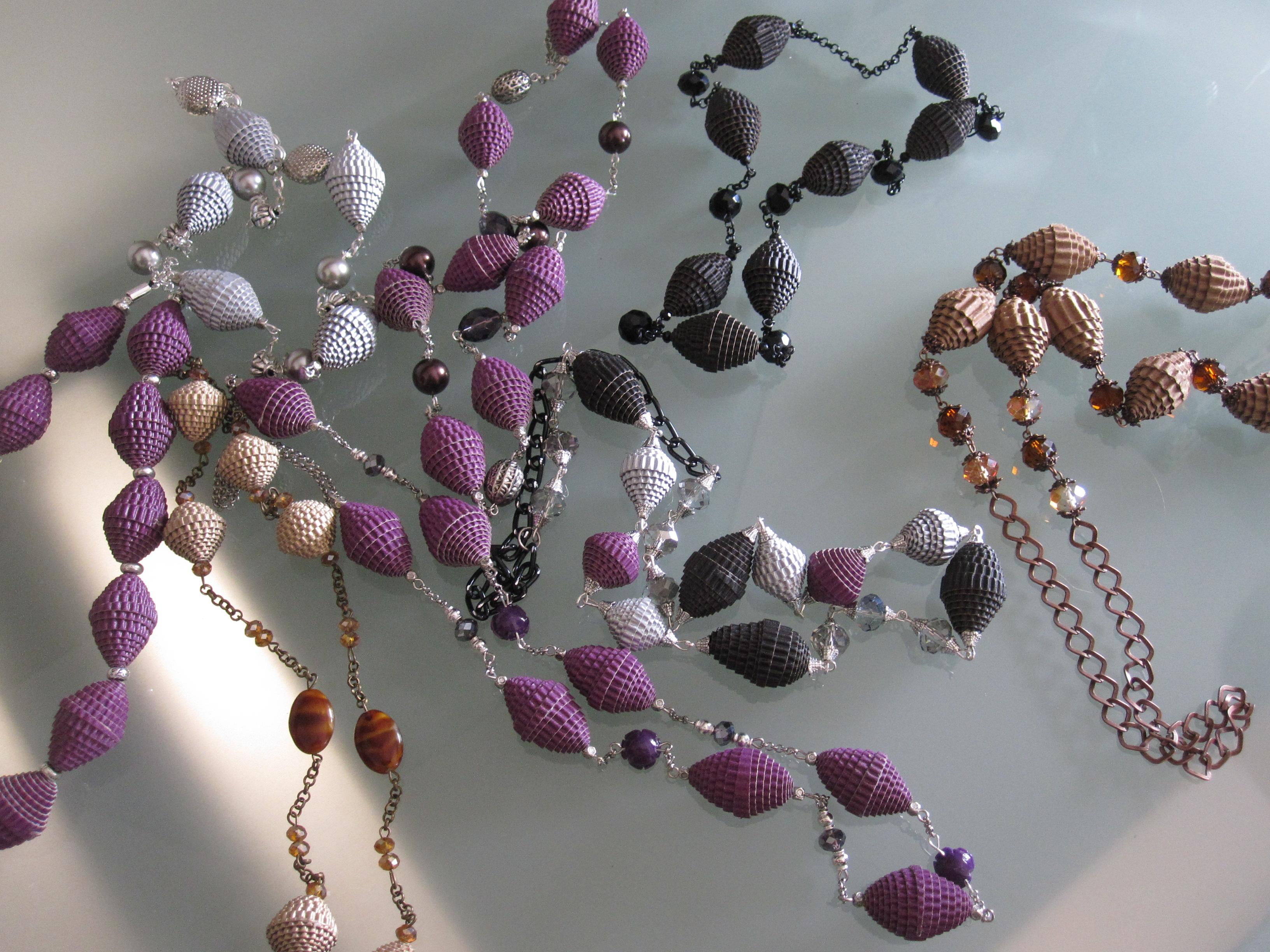 Preferenza Idee da indossare : gioielli di carta – collezione onde - | XV14