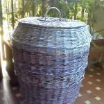 Cestone grigio  Carta di riciclo : volantini
